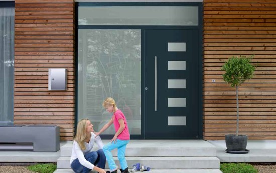 Aluminium Front Entrance Doors