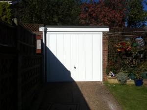 Steel up and over garage doors