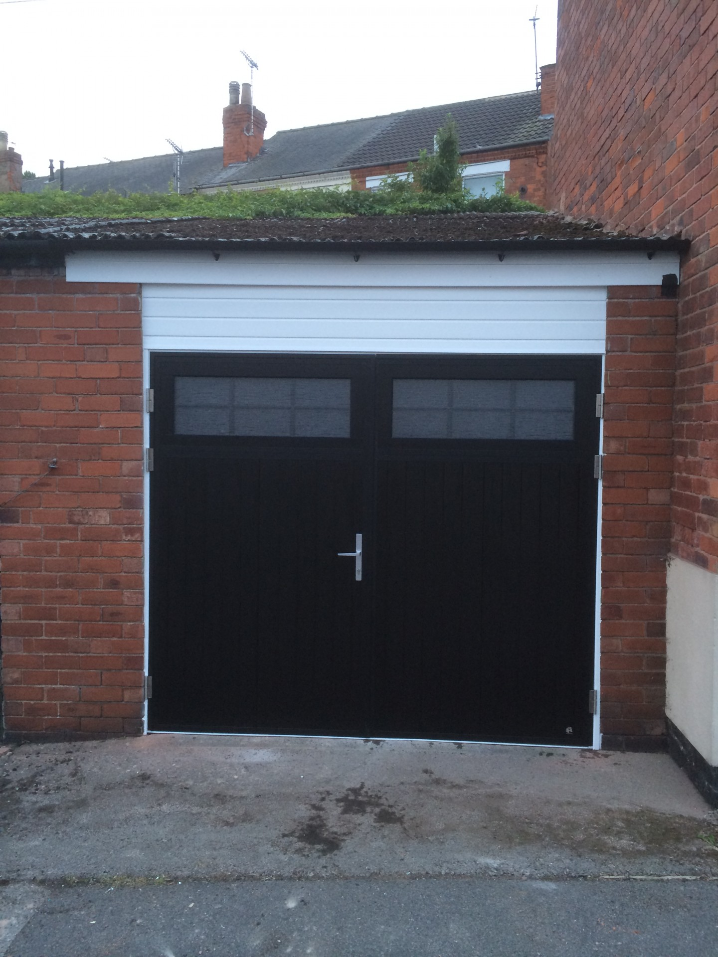 The Other Side Of Garage Doors For Garages : Side hinged garage doors byron traditional style