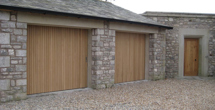 Side sliding garage doors gallery byron doors Garage with doors on both sides