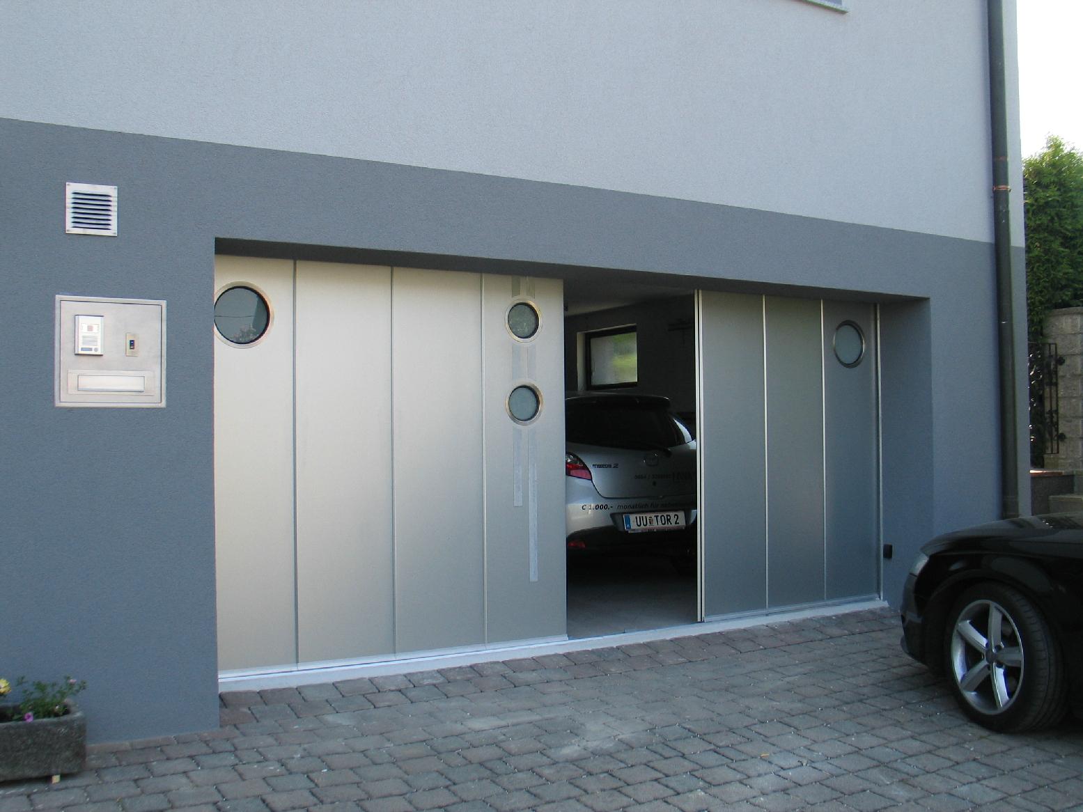 Side sliding garage doors for Sliding garage doors