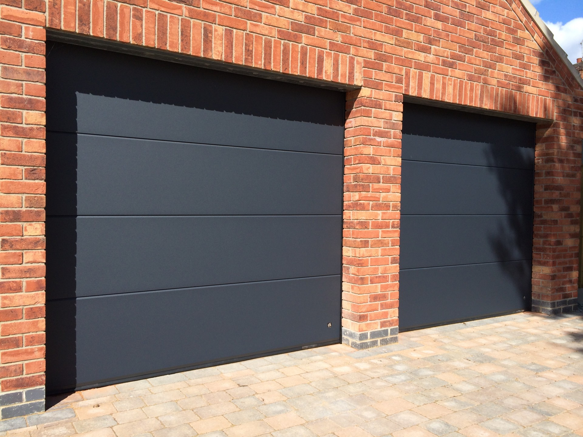 1440 #AB5D20 Doors Installs Ryterna R40 Flush Slick Style Steel Sectional Garage  pic Sectional Steel Garage Doors 35911920