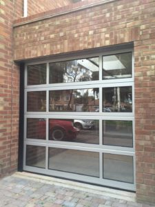 Byron Doors installation of a Ryterna FV Thermo aluminium sectional garage door in Spalding.