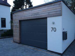 Byron Doors installation of a Ryterna 40mm insulated steel sectional garage door in Mansfield