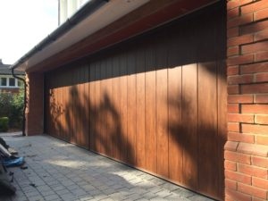 Byron Doors installation of a Ryterna side sliding sectional garage door in Ascot, Berkshire.